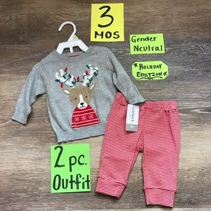 🎄NWT Carter's 3 Month 2pc Christmas Outfit